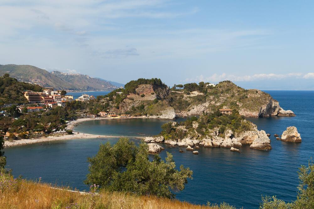 Isola Bella Beach near Taormina, Sicily, Italy