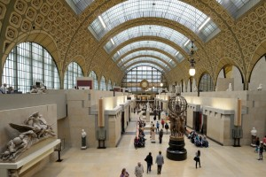 Visitors in the Musee d'Orsay - Museums in France