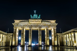 Brandenburg Gate, Berlin, Germany at Night