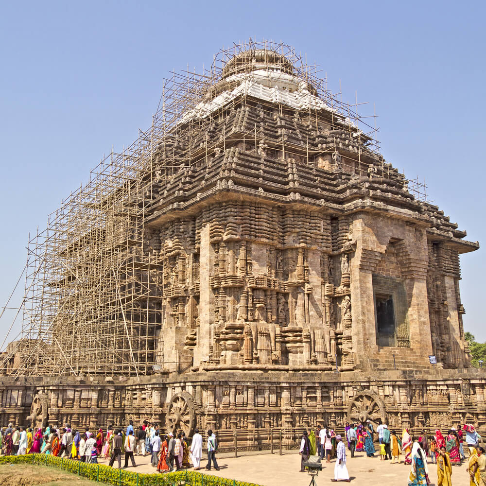 Ancient Ruined Sun Temple in Konark, Orissa