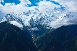Kinnaur Kailash range. Kalpa, Himachal Pradesh, India