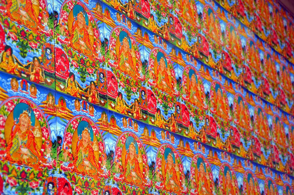 Buddhist Painting in McLeod Ganj