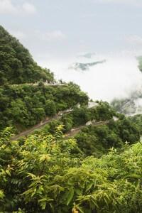 High angle view of mountain road, Mussoorie, Dehradun