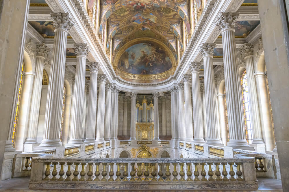 Famous Royal Chapel inside Versailles