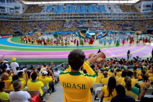 Fans during the World Cup 2014 - Brazil