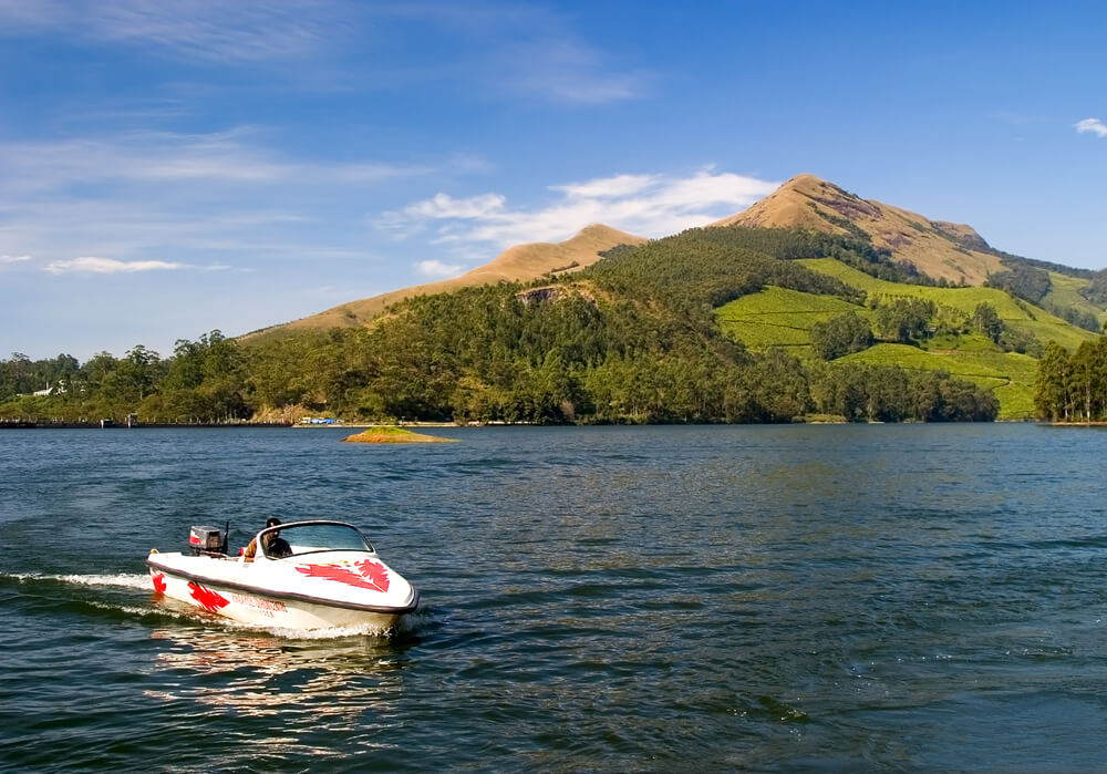 Boating in Maddupatti Lake - Munnar