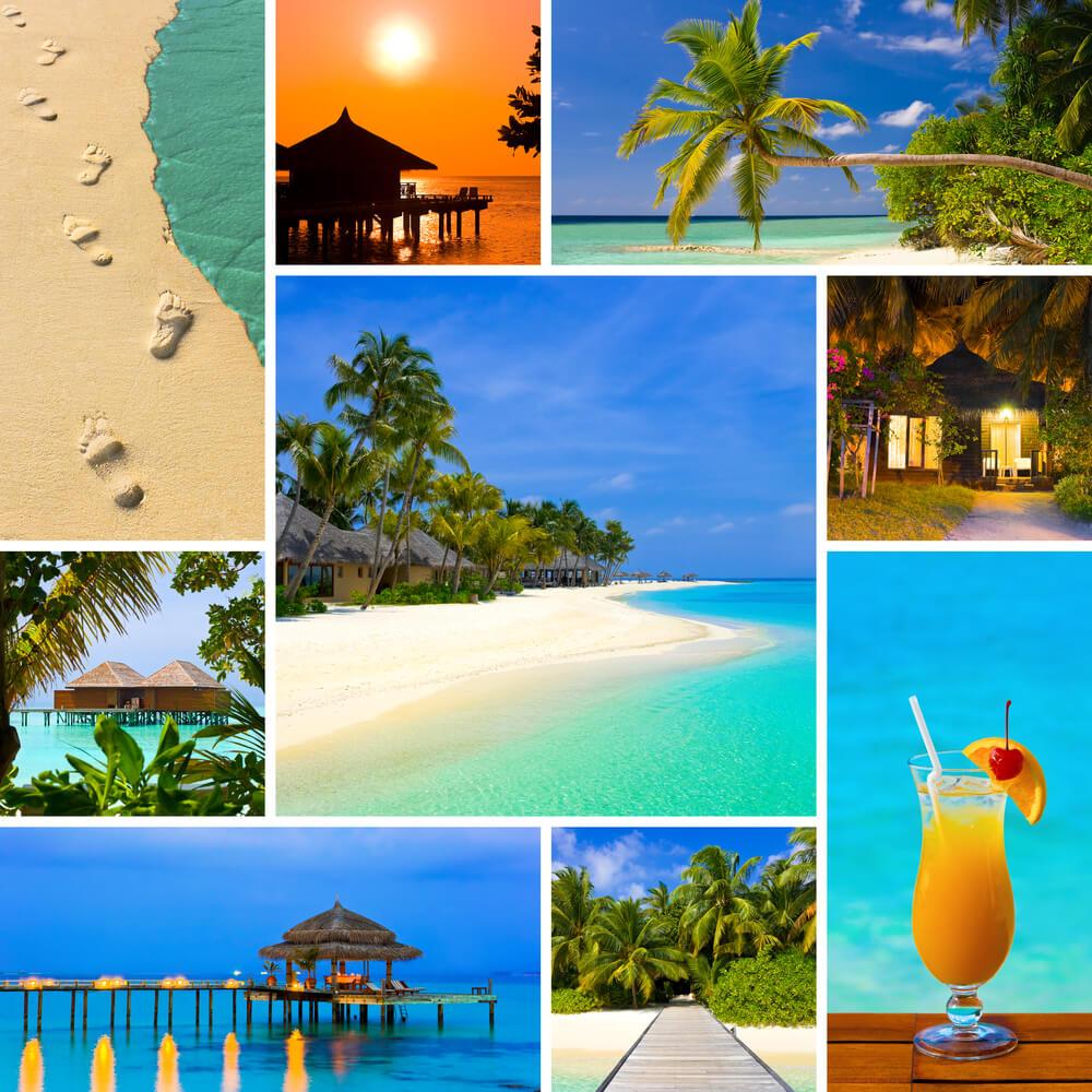 Summer Maldives Beaches Collage