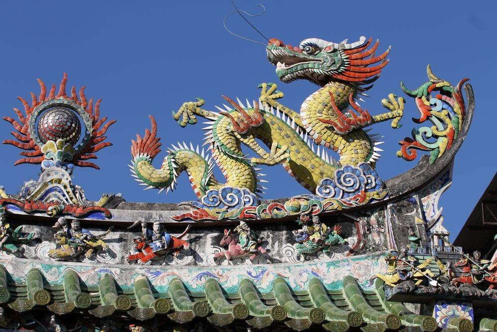 Hainan Temple in Georgetown, Malaysia