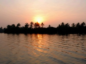 Lake in the backwaters of Kerala