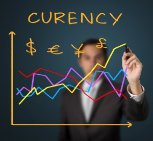 financial currency graph