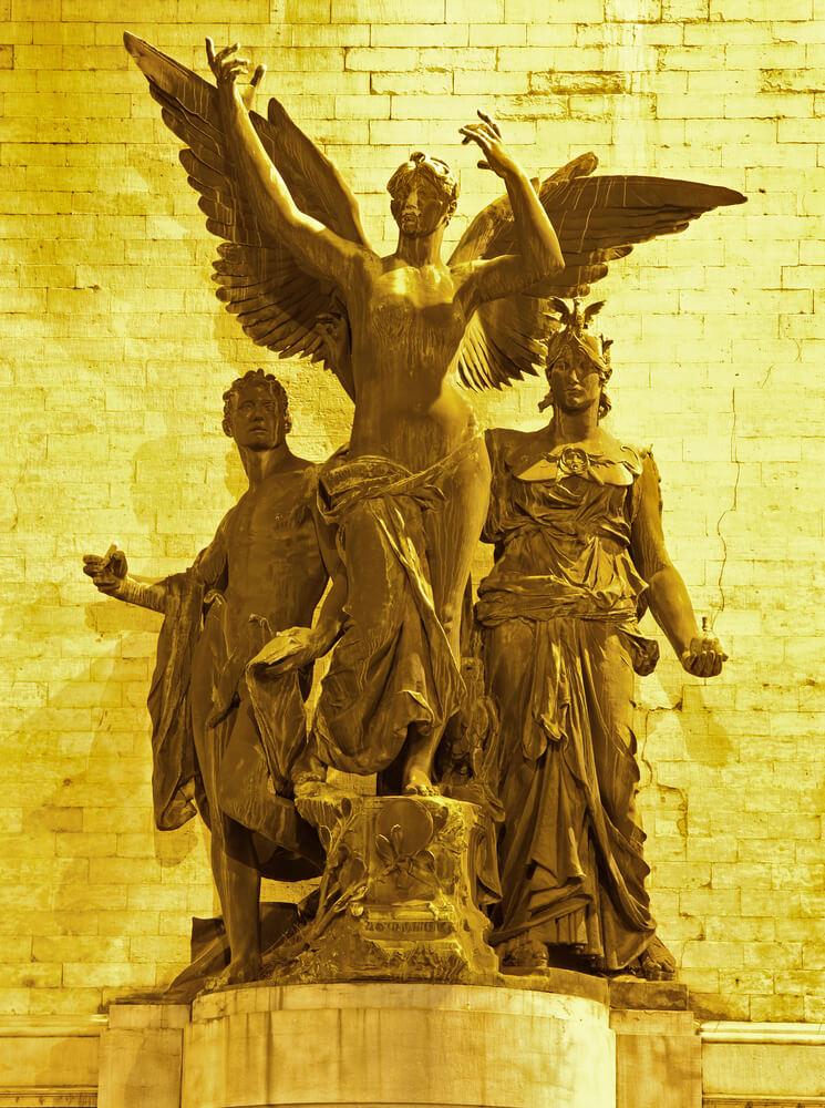 Brussels - Statue by Charles van der Stappen