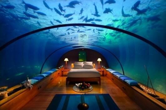 Sleep underwater Maldives