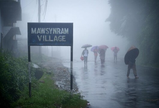 Wettest place on Earth: Mawsynram, India