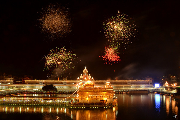 Golden Temple during Diwali