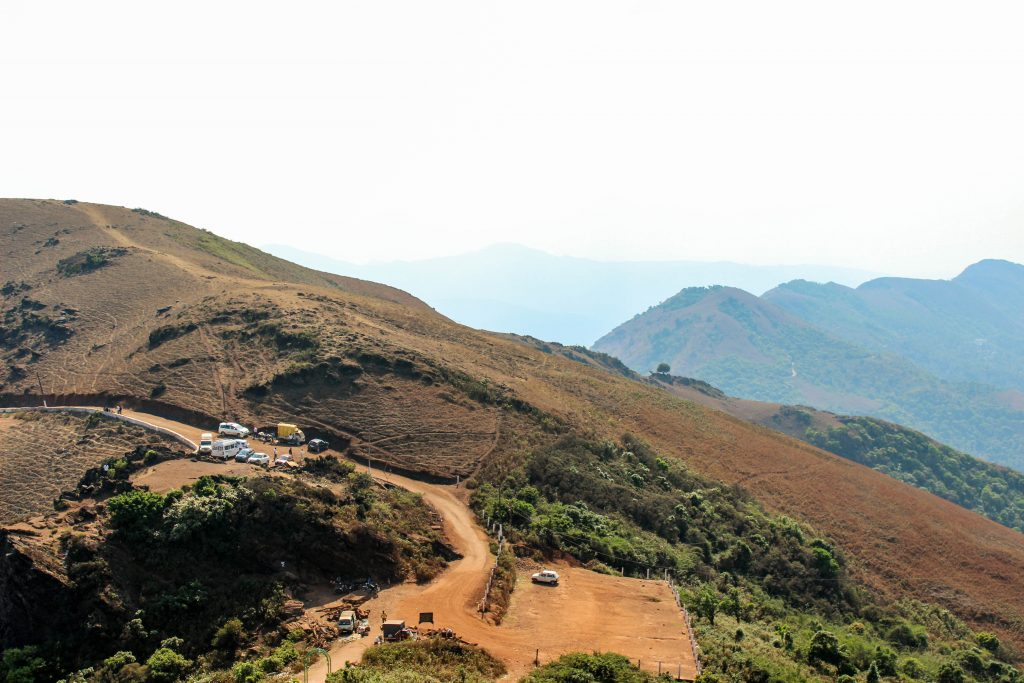 Parking Area as seen from Mullayanagiri peak