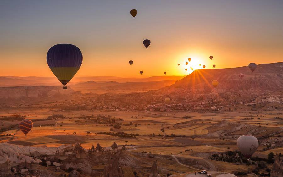 Sunrise at Cappadocia, Turkey