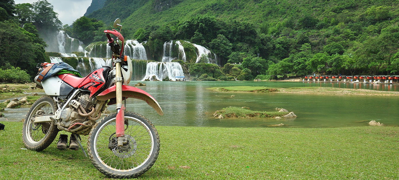 Motor biking in Vietnam