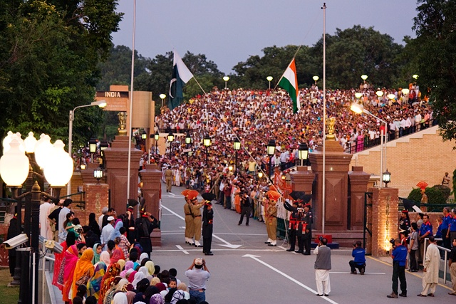 Wagah border in Punjab