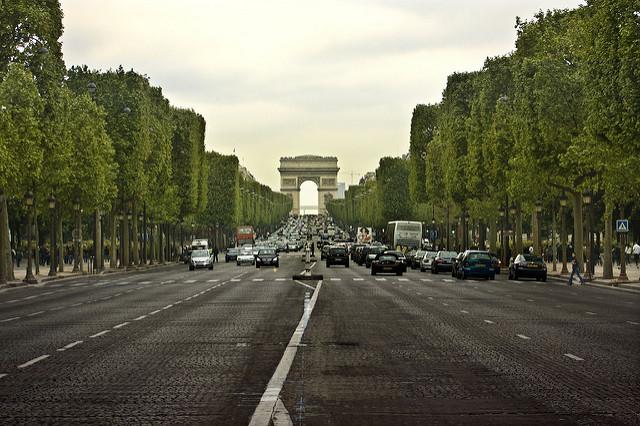 The monumental Avenue des Champs-Élysées