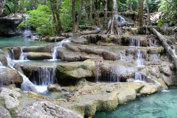 The Erawan Falls - All About Thailand