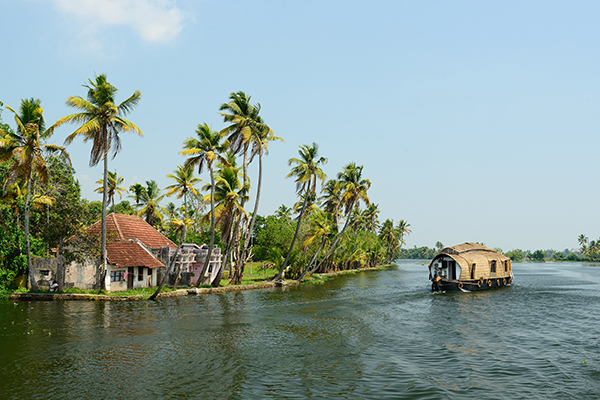Houseboats in Kerala Backwaters