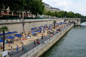 beach holiday in Paris