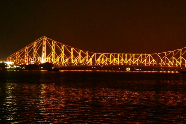 Dakshineswar Kali Temple and Howrah Bridge, Kolkata