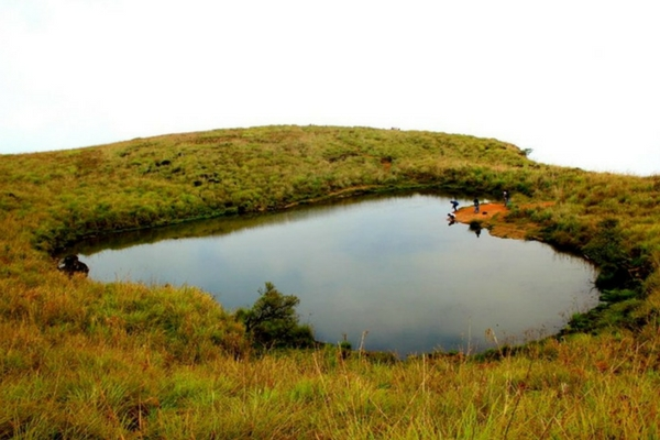 Heart shaped lake, Wayanad