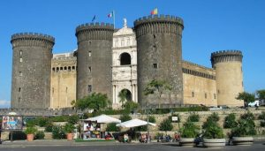 The five-towered Castel Nuovo in Italy