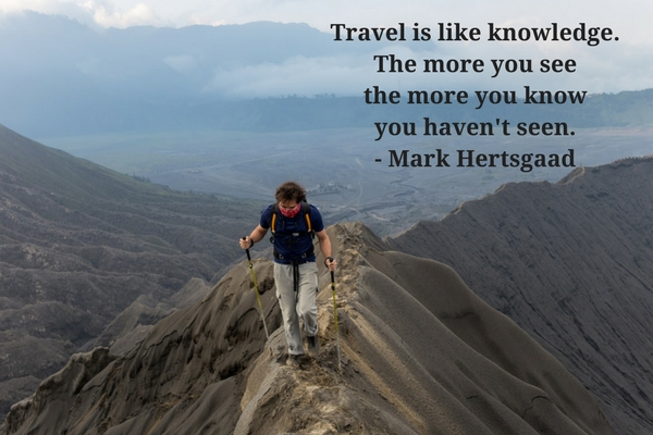 Travelling is knowledge