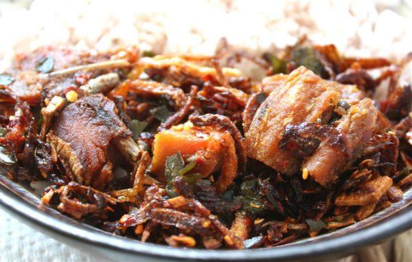 Salted and Fried Fish, Sri Lankan Food