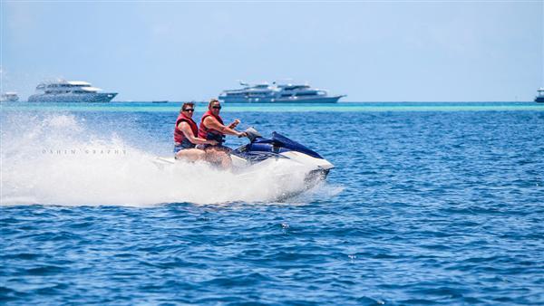 Water activities at Maldives