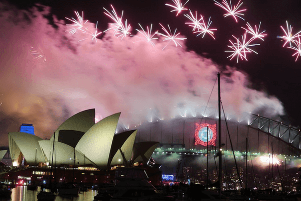 Sydney,festive cities in the world for New Year's Eve