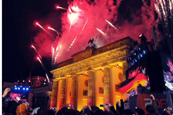 Brandeburg Gate,festive cities in the world for New Year's Eve