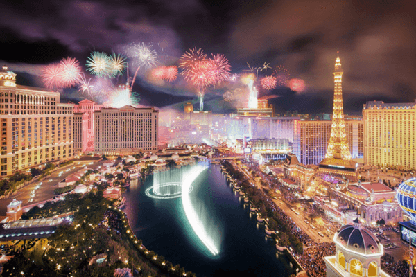 Las Vegas,festive cities in the world for New Year's Eve