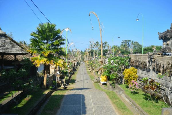 Beautiful roads of Bali