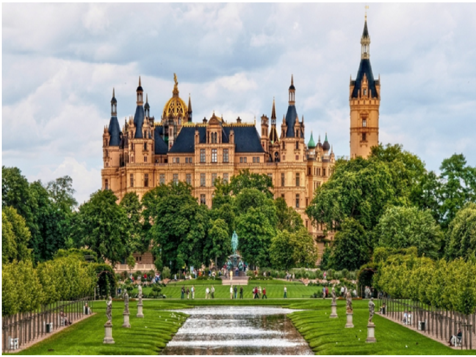 The Schwerin Palace, Germany