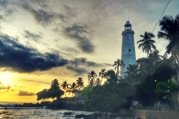 Dondra Head Lighthouse in Sri Lanka