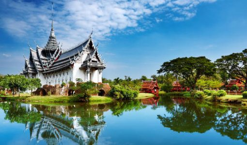 anphet Prasat Palace, Ancient City, Bangkok, Thailand