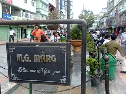 M G Marg Gangtok - Shopping in North East India
