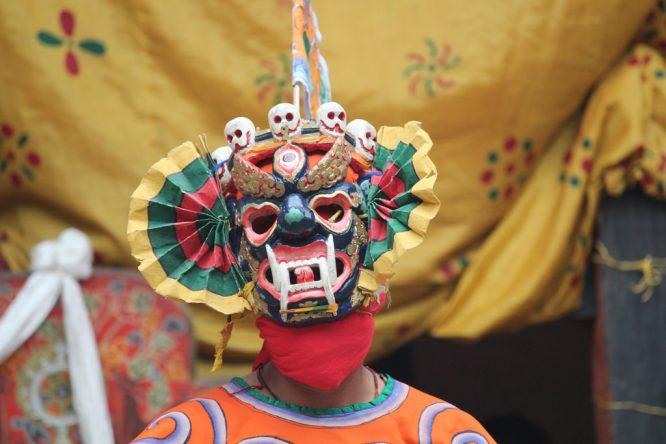 Masks-shopping in Bhutan