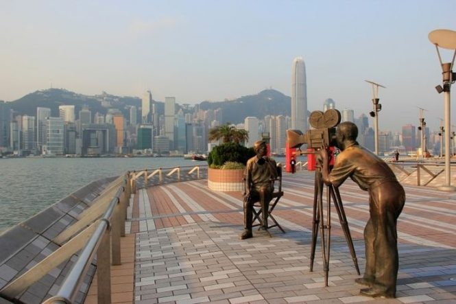Avenue of Stars-Travelling to Hong kong