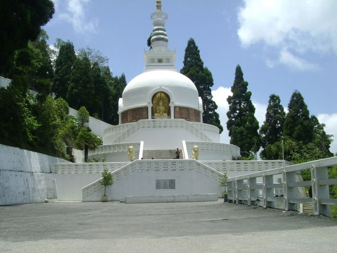 Japanese Peace Pagoda- places to visit in Darjeeling