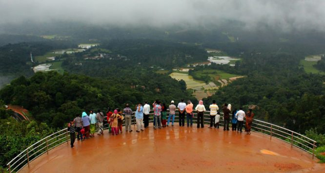Raja's seat- Coorg hill station