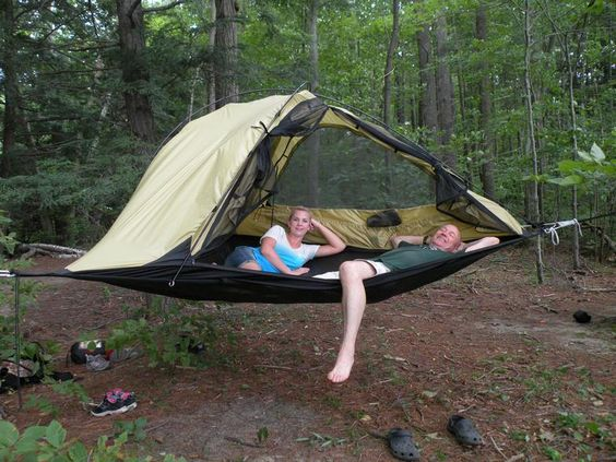 Camping Hammock with Net Canopy - Travel Gadgets
