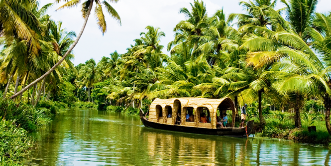 backwaters of Alleppey - tourist places in Kerala