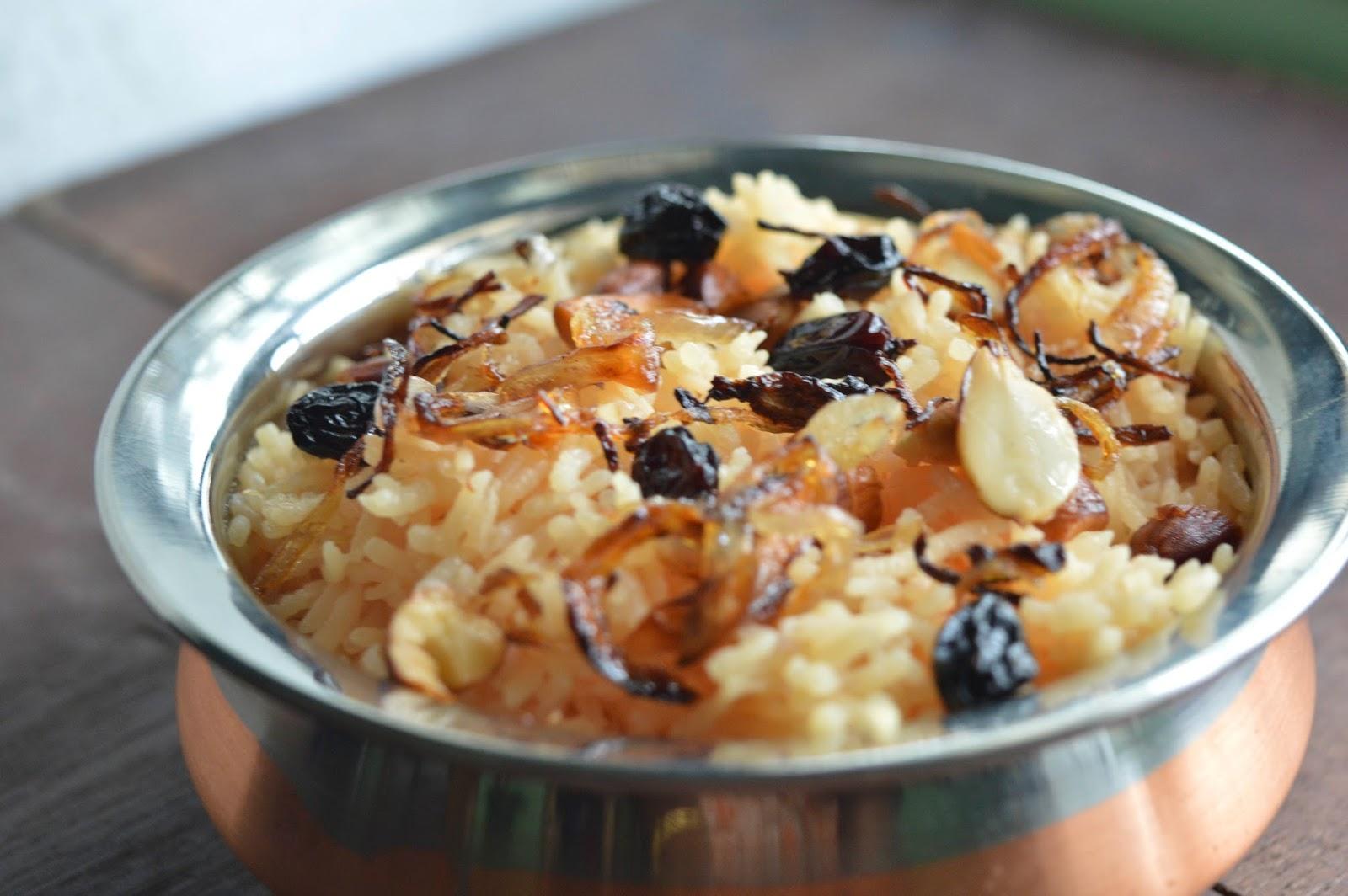 Modur Pulav-Kashmiri Food