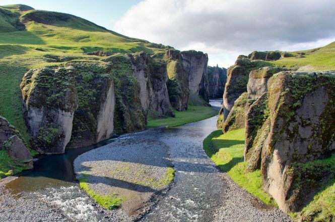 Fjadrargljufur Canyon- things to do in Iceland