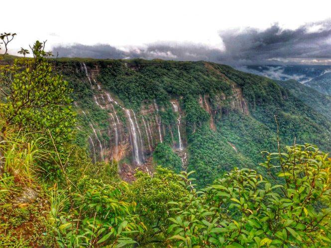 Seven Sister Waterfall-Living Root Bridges