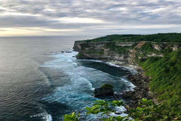 A view of the sea and hill - Bali